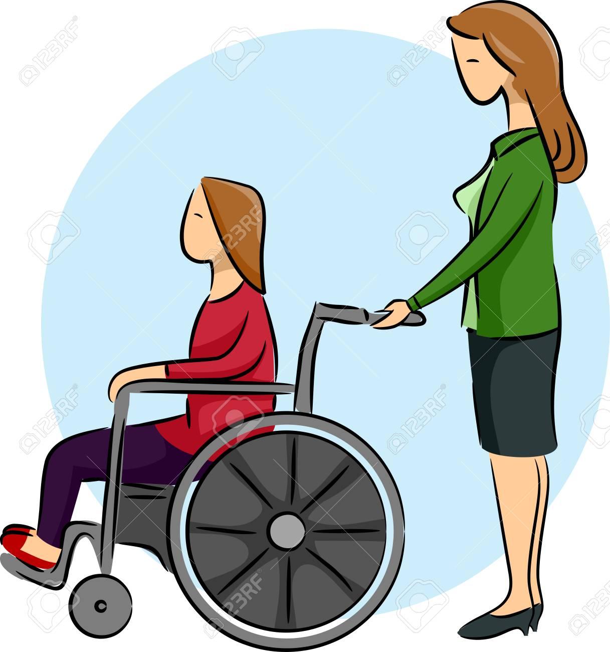 dibujo niña silla de ruedas