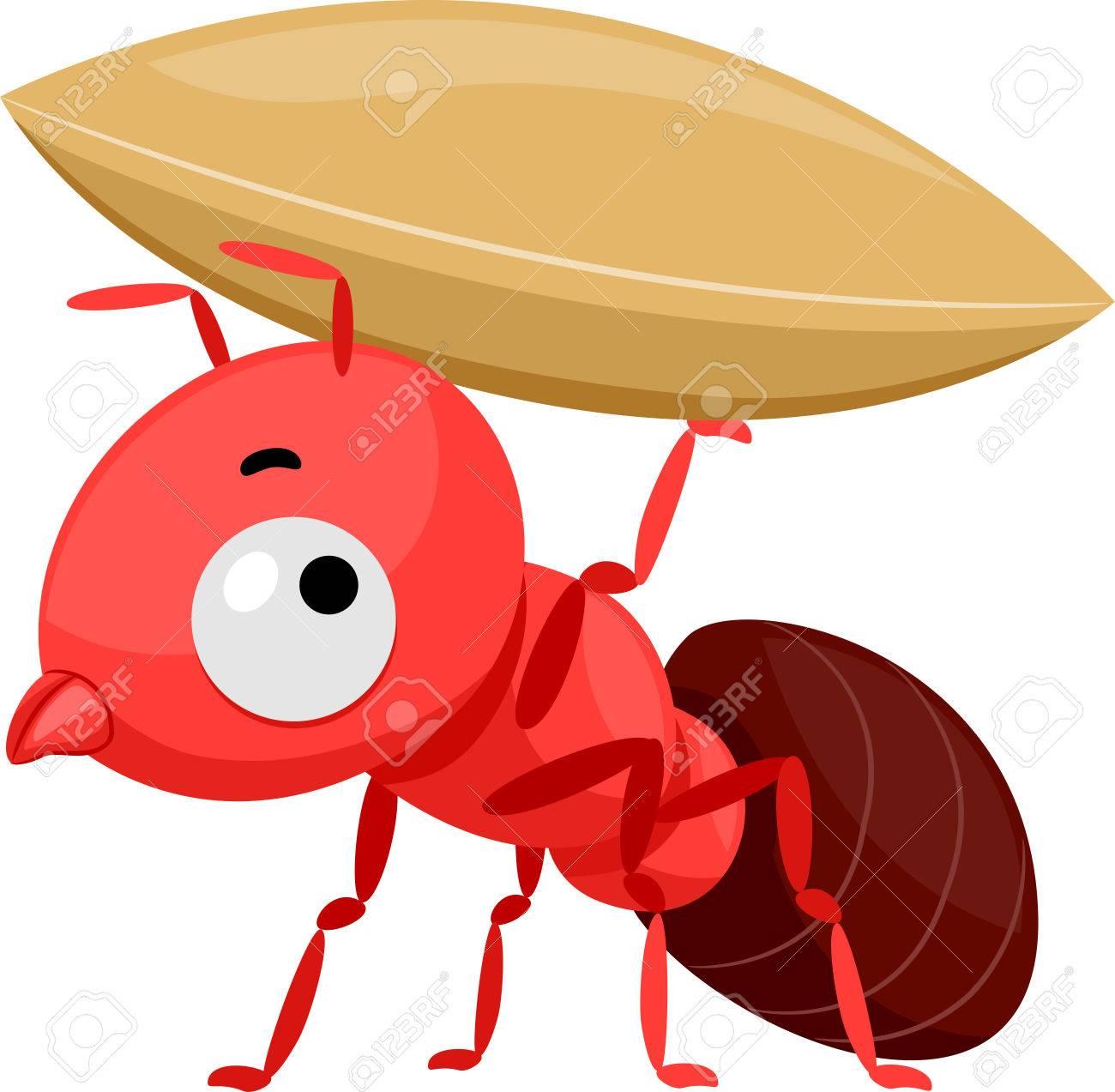 Ejemplo De La Mascota Que Ofrece Una Pequeña Hormiga Roja Linda Que ...