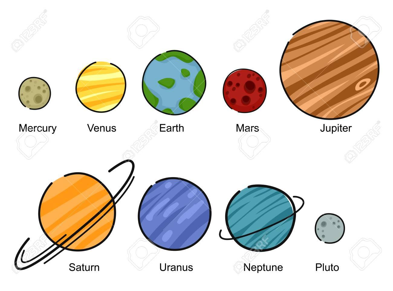 illustration of mercury venus earth mars jupiter saturn rh 123rf com clipart of planet mercury Thermometer Clip Art