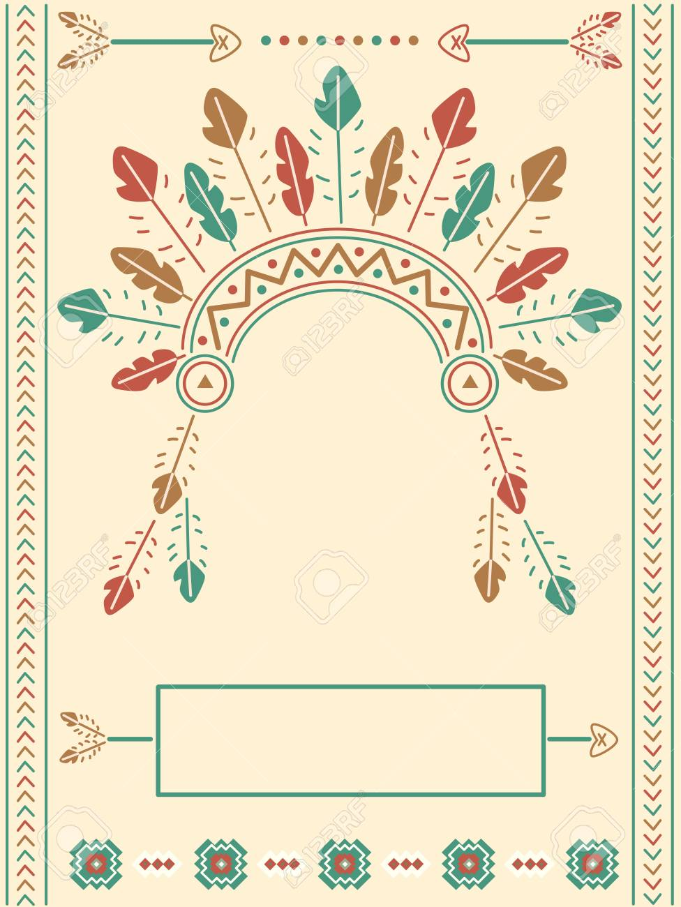 Bonito Plantilla De Tocado Indio Patrón - Colección De Plantillas De ...