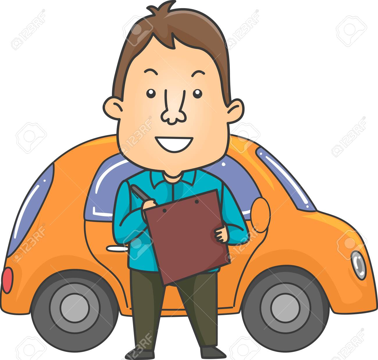 Driving Instructor - Royalty Free Clip Art Picture