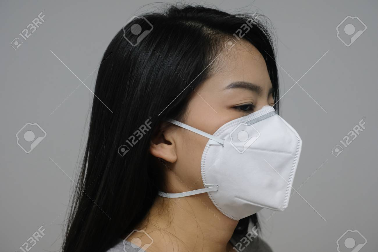 Of Face Wearing Because The In Woman N95 Air Pollution Mask