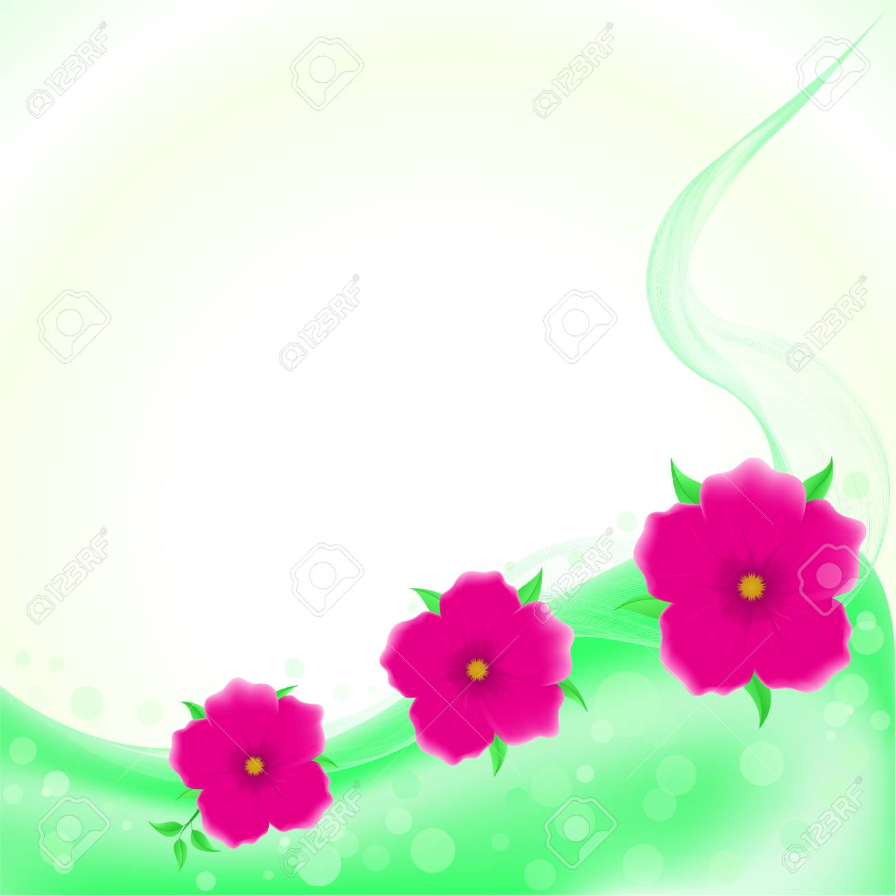 Vector Beautiful Flower Background Art Royalty Free Cliparts