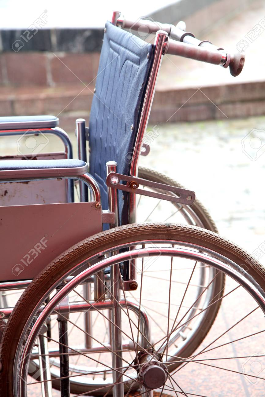 Old Invalid Carriage Costs In The Street Stock Photo Picture And