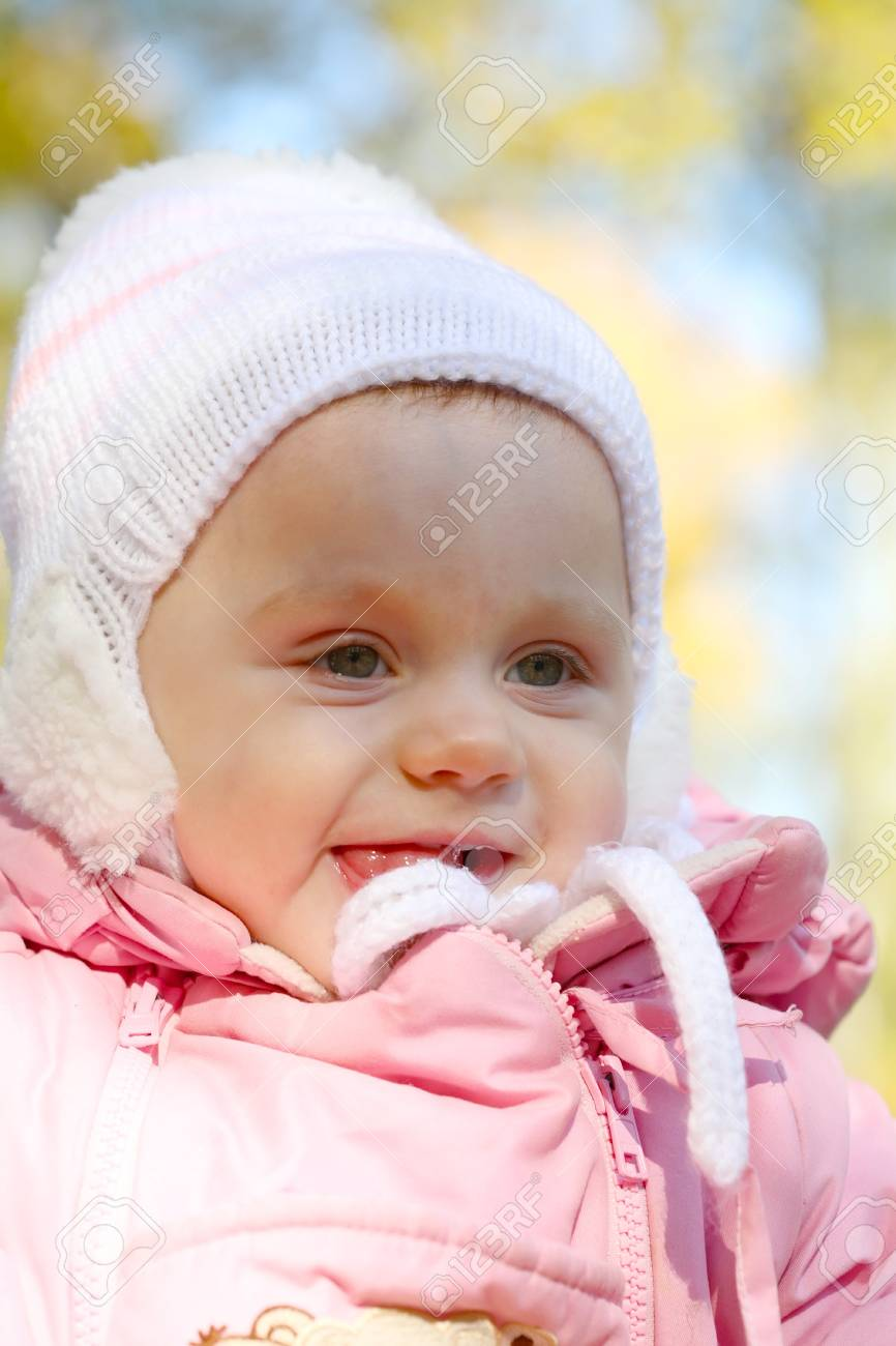 Portrait close up of the baby on walk. Stock Photo - 8094345