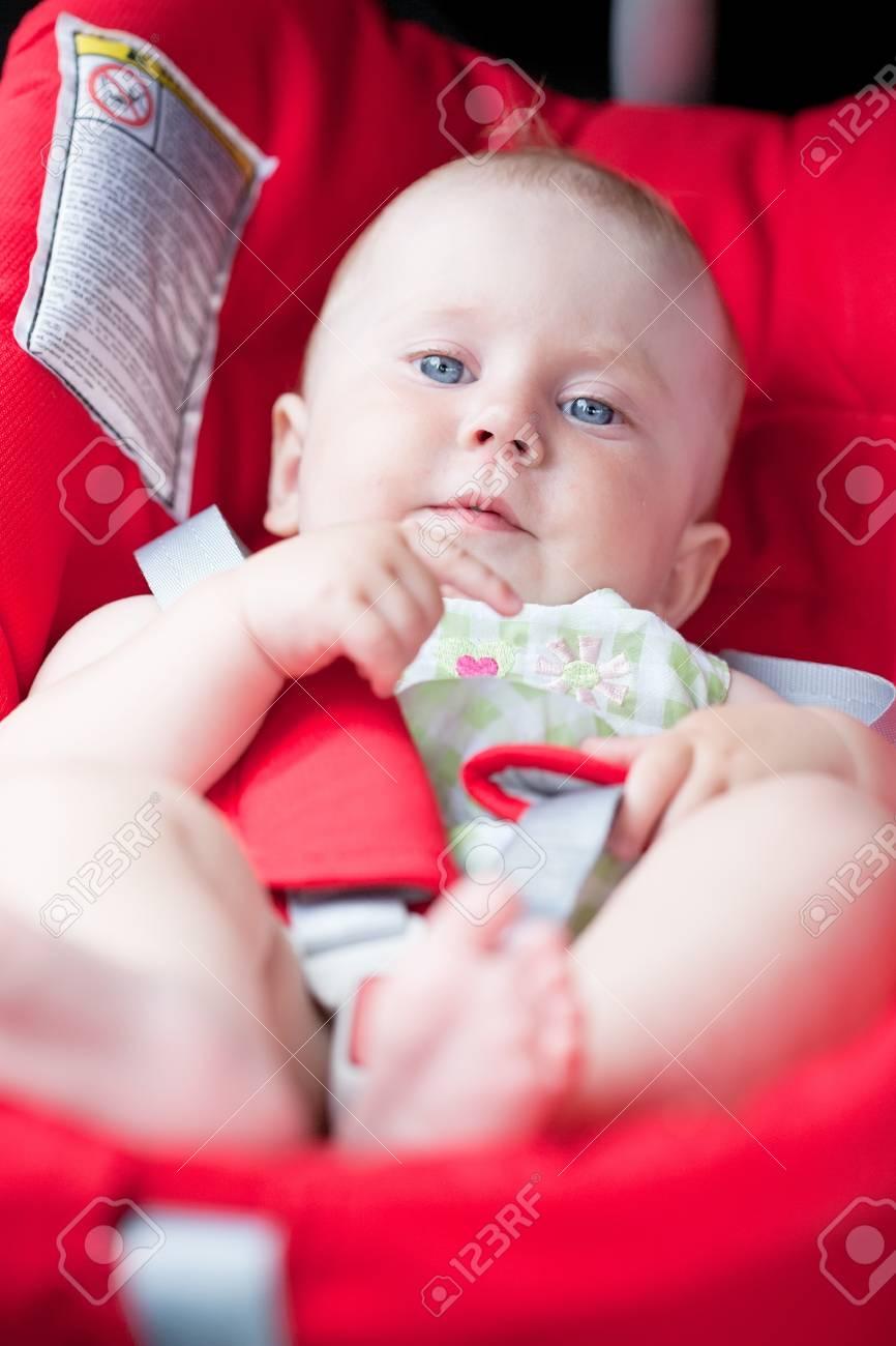 baby girl smile in car Stock Photo - 10458710