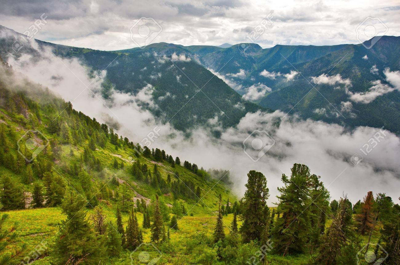 View from mountains peak. Altai, Siberia Stock Photo - 10671213