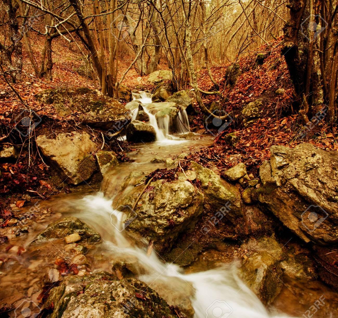 waterfalls in mountains. Stock Photo - 10788334