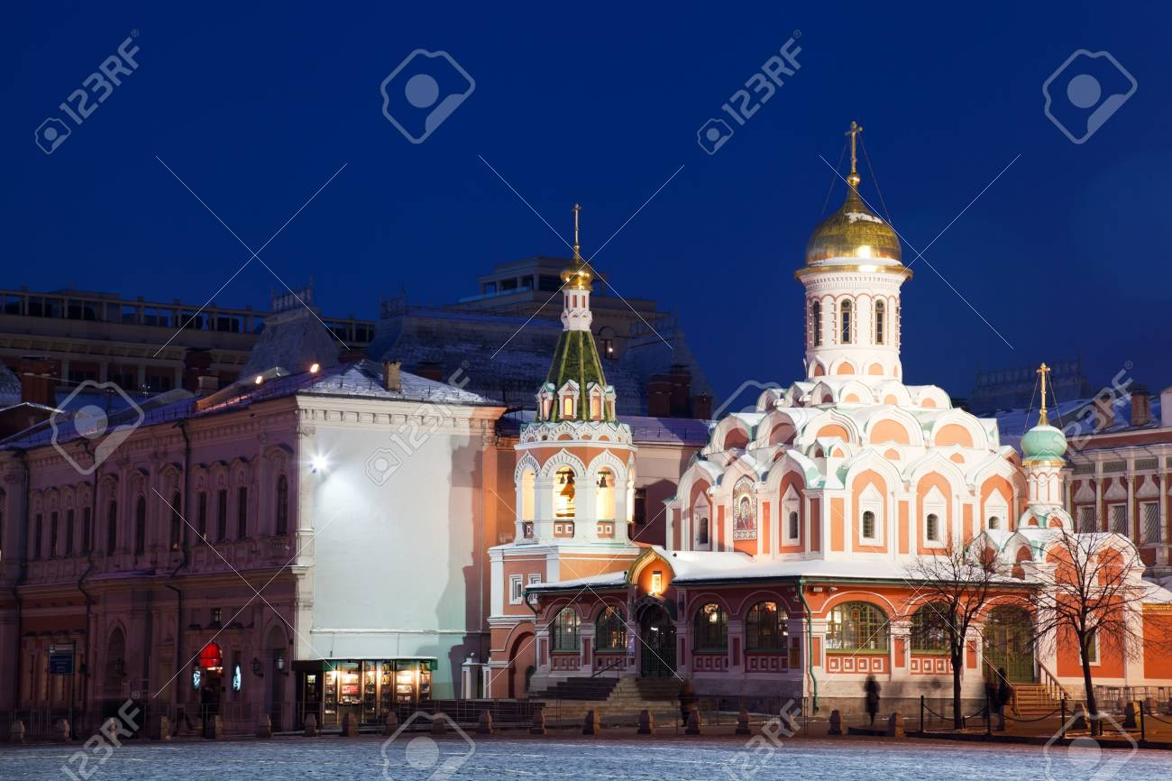 Cathedral of the Kazan Icon of Divine Mother on the Red Area in Moscow Stock Photo - 12953950