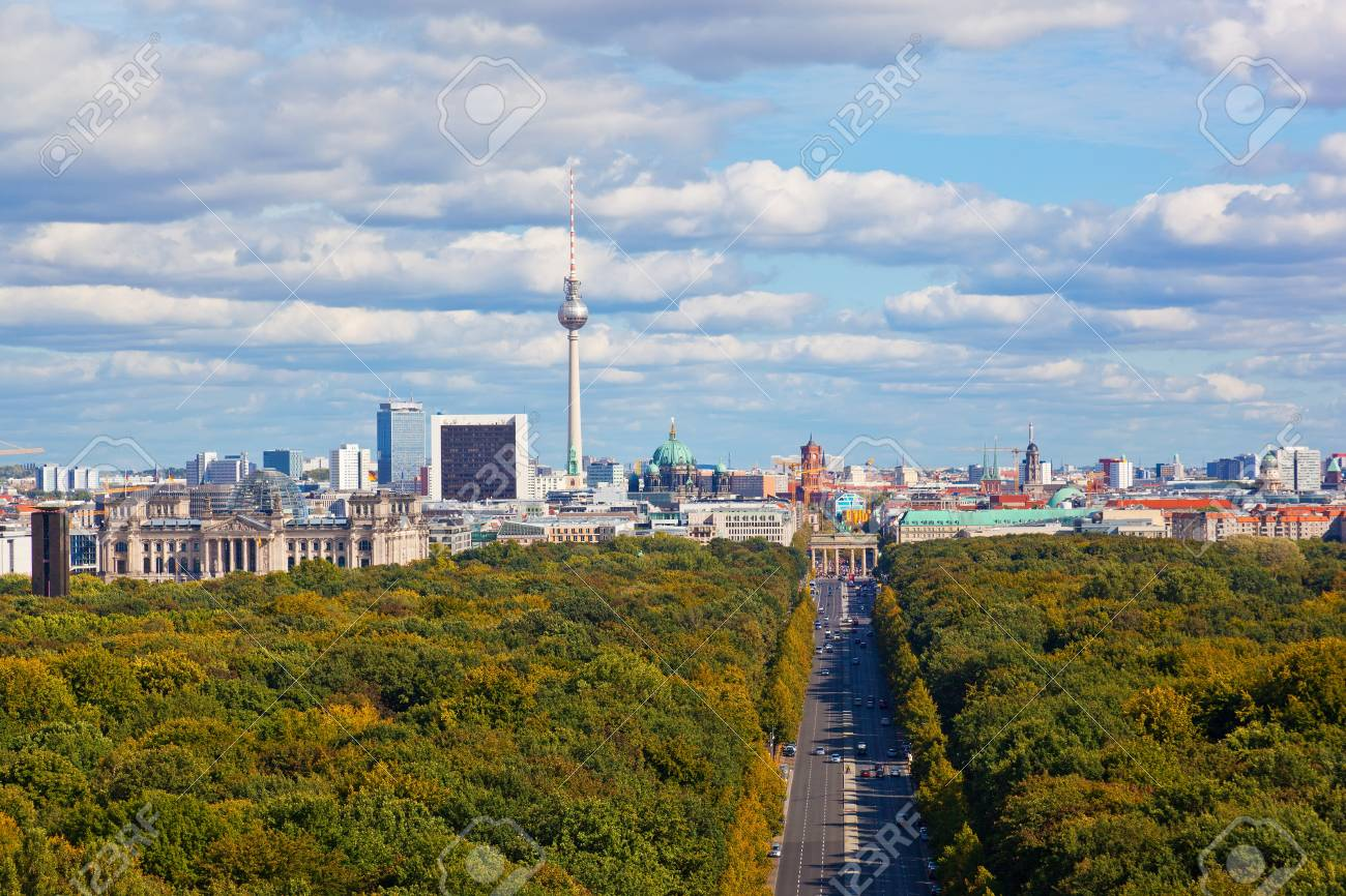 Day view of the central district of Berlin from an observation deck  Stock Photo - 17511071