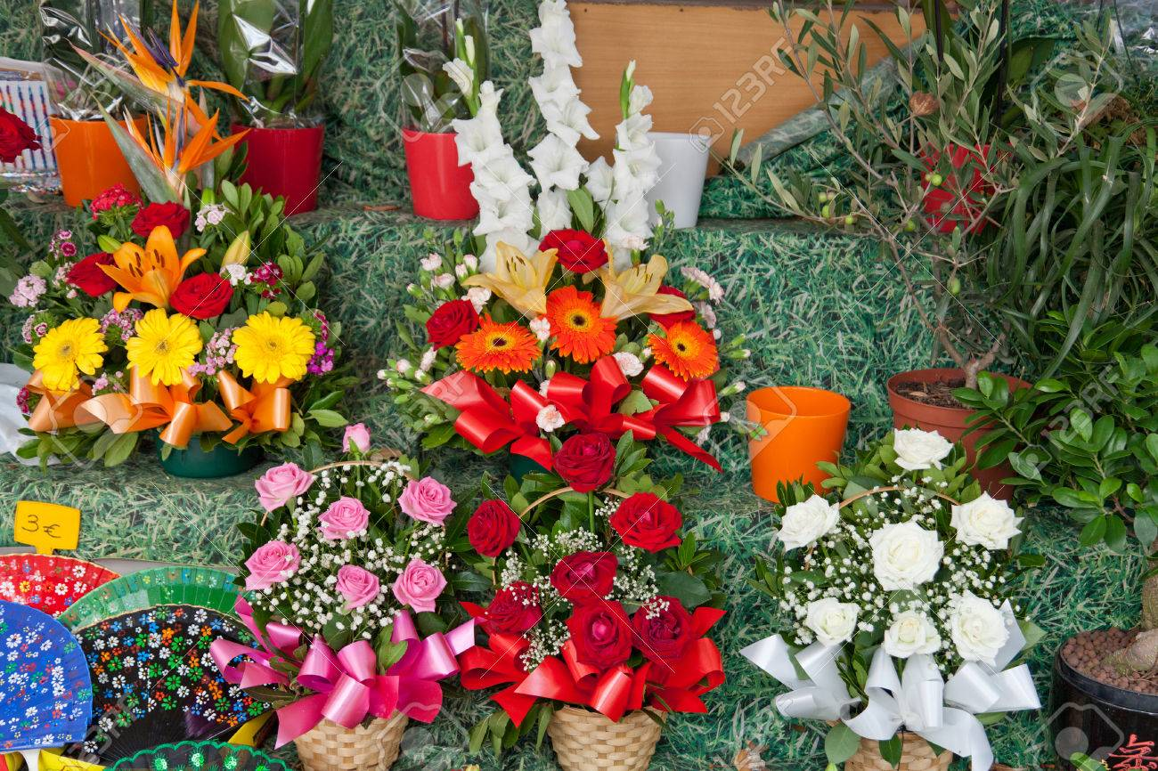 Beautiful festive bouquets in a show window of flower shop stock beautiful festive bouquets in a show window of flower shop stock photo 37217858 izmirmasajfo