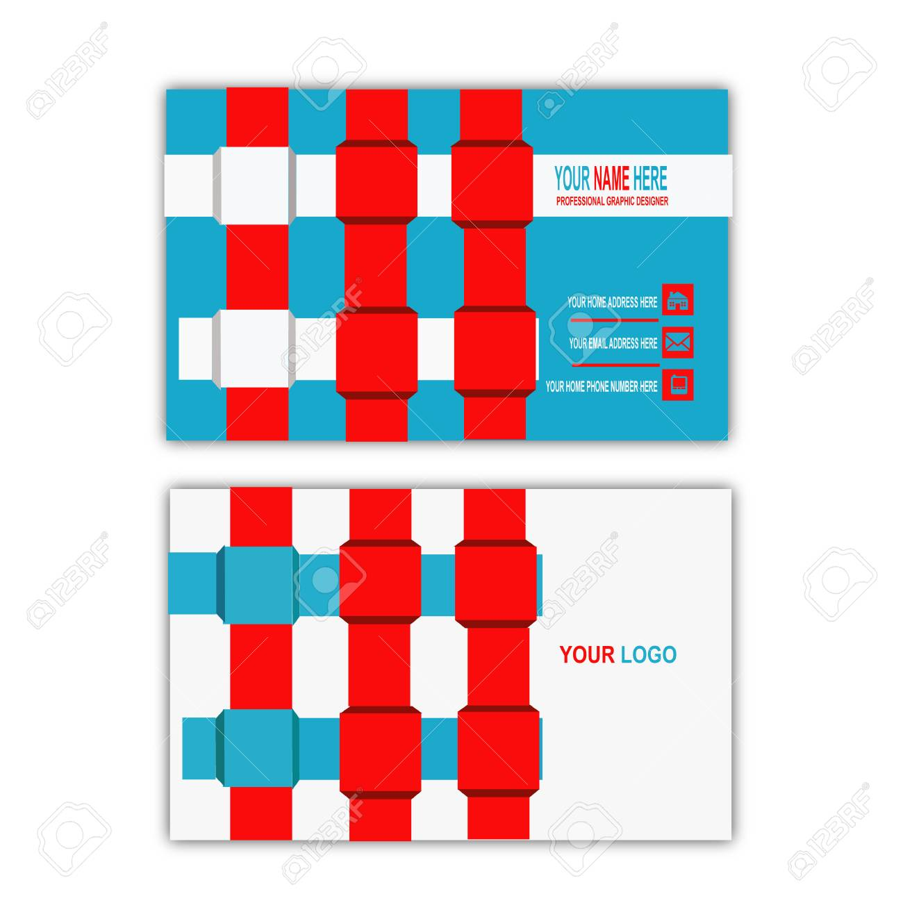 webbing concept business card template stock photo picture and