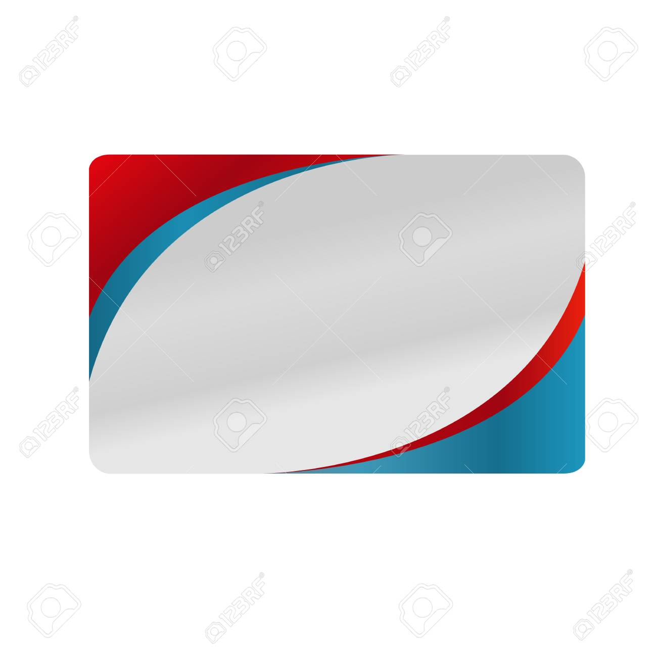 Red And blue silver business card