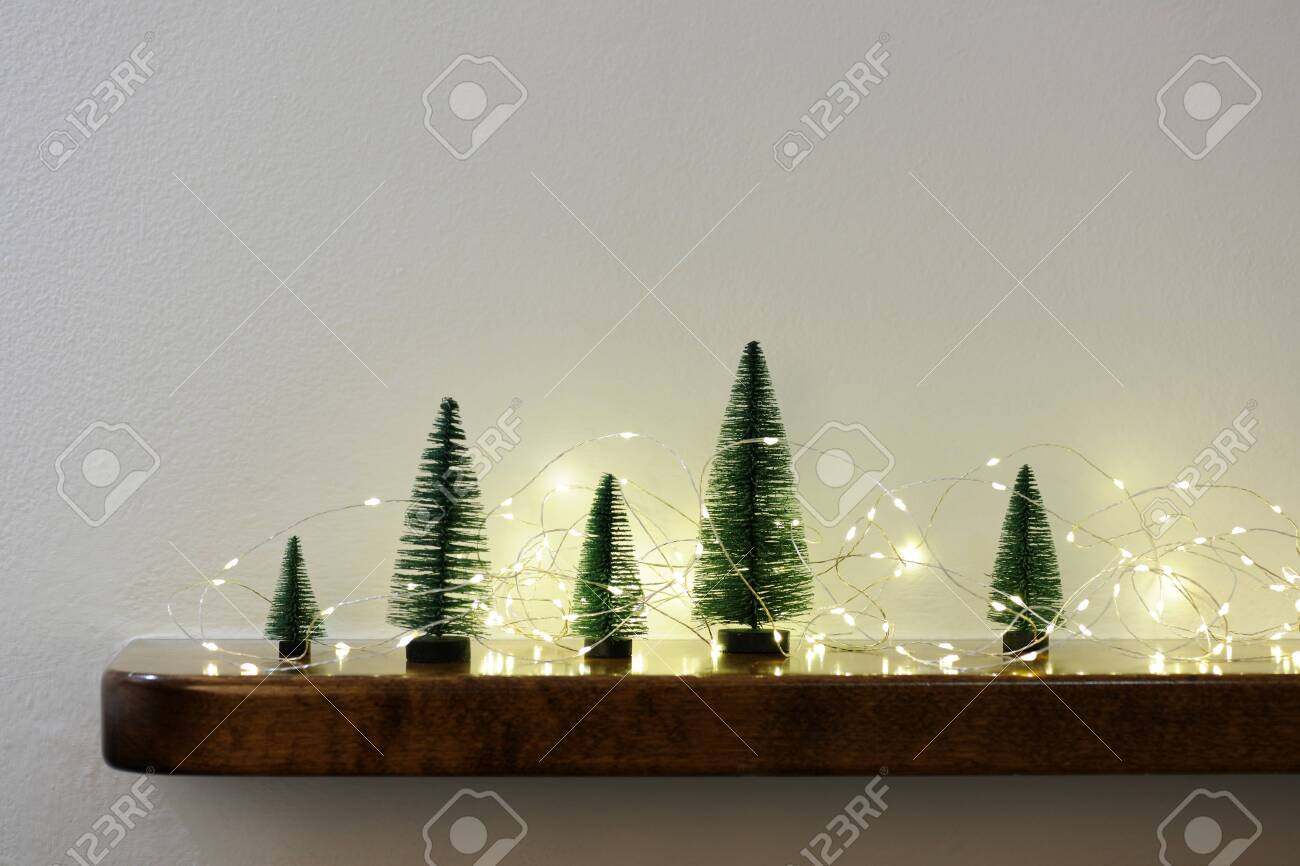 Arrangement Of Small Christmas Trees Stock Photo Picture And Royalty Free Image Image 121672929