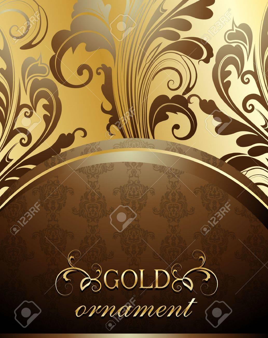Decorative golden background Stock Vector - 13384915
