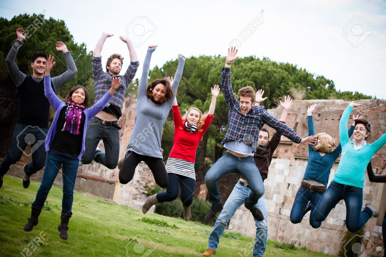 https://previews.123rf.com/images/lentolo/lentolo1303/lentolo130300012/18206510-Group-of-Happy-College-Students-Jumping-at-Park-Italy-Stock-Photo.jpg