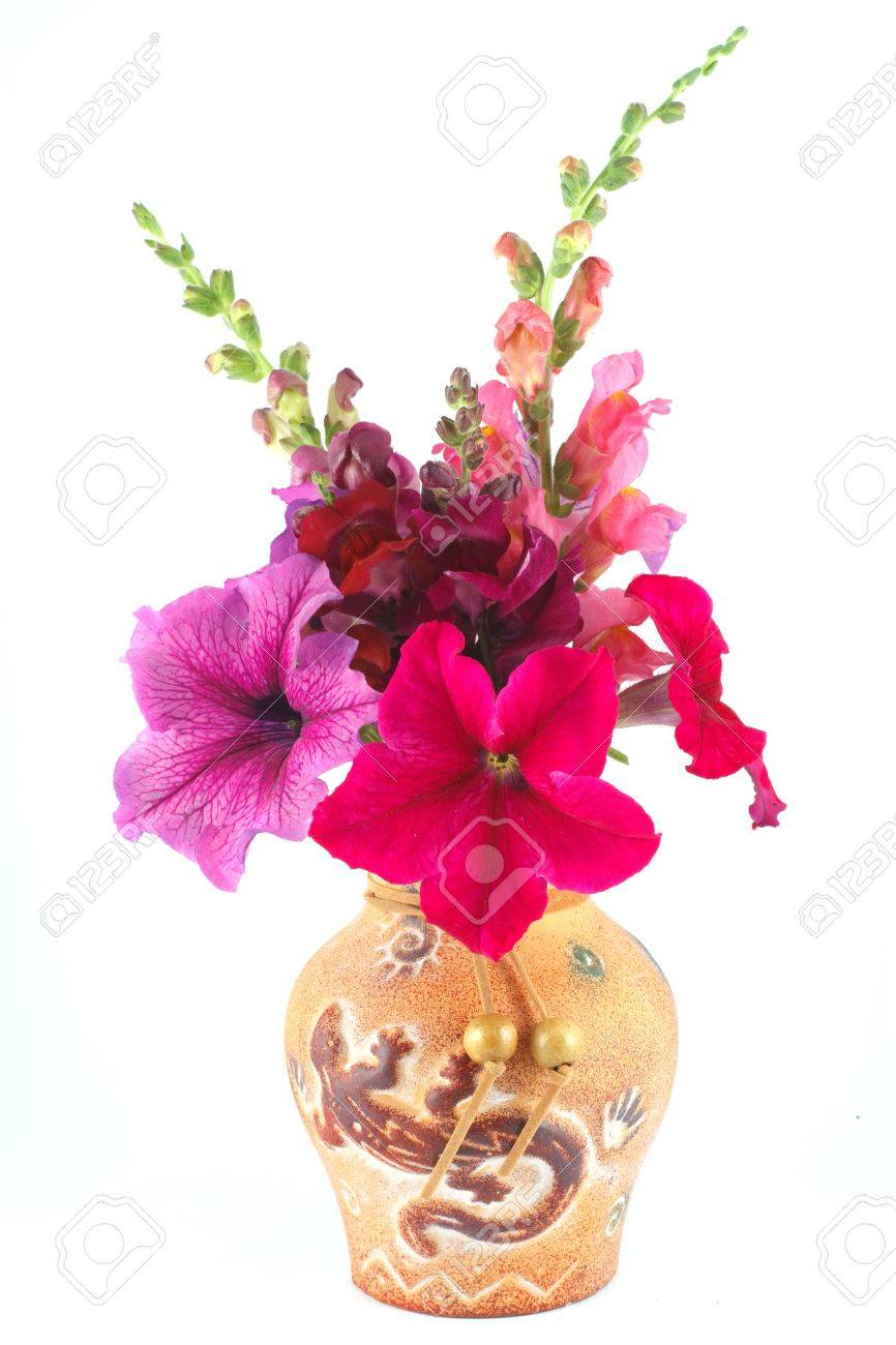 A bouquet of petunias and snapdragons in a vase stock photo a bouquet of petunias and snapdragons in a vase stock photo 16756150 reviewsmspy