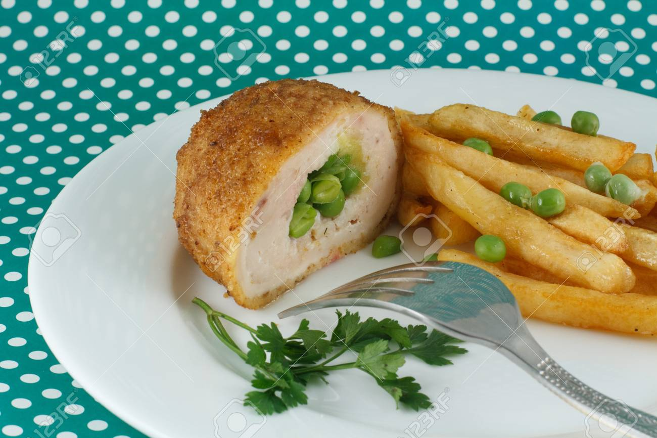 French fries and chicken cutlet Stock Photo - 16877916