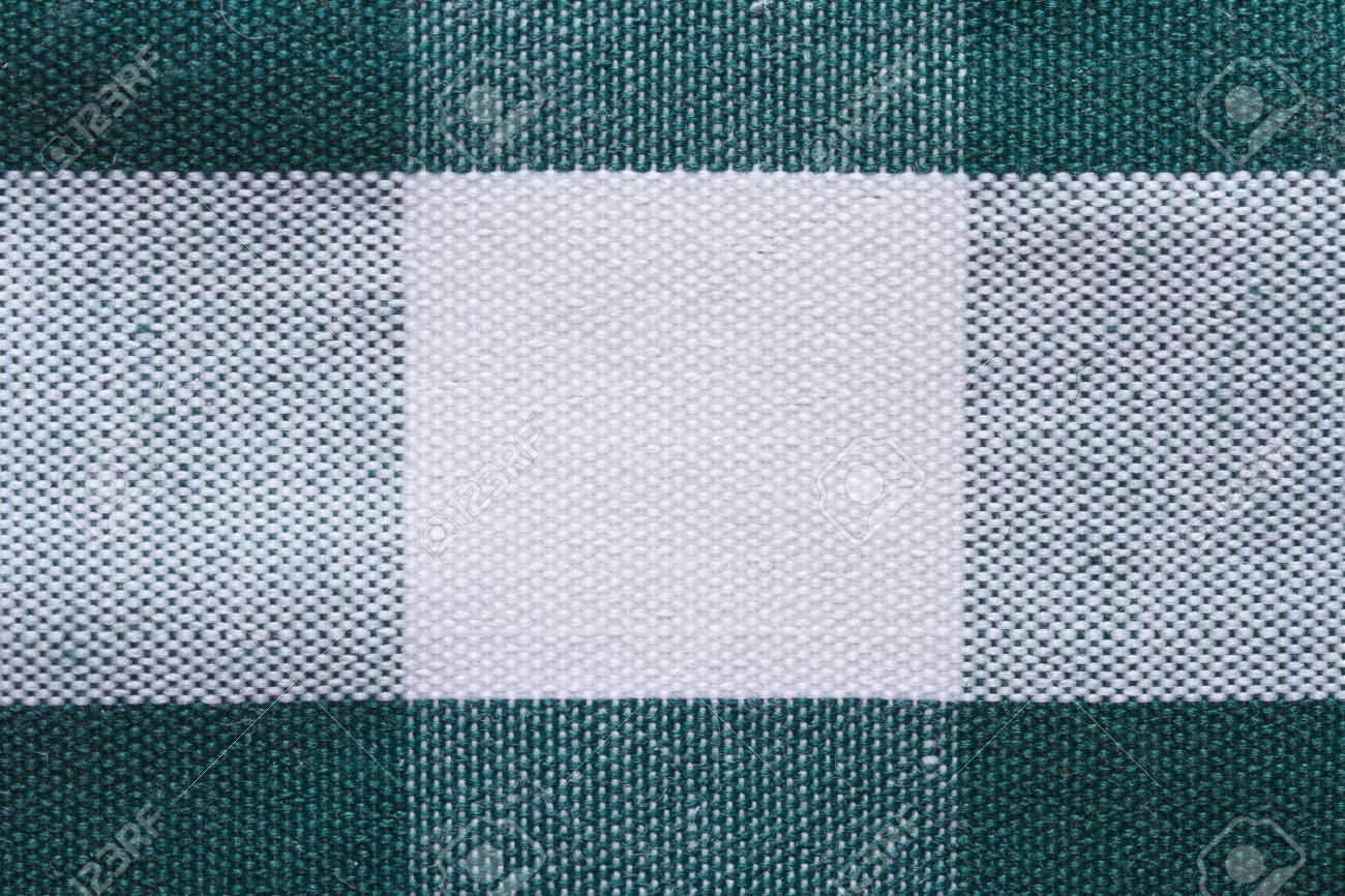 Textura Del Blanco En El Tejido De Algodón Celular Verde De Cerca ...