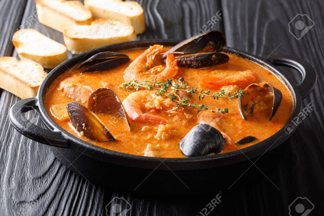 Seafood Spicy Soup With Potatoes ...