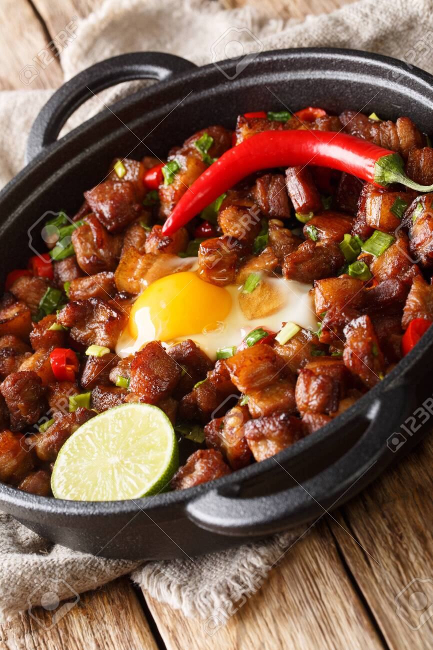 Sisig Is A Popular Filipino Dish It Is Composed Of Pork Chopped Stock Photo Picture And Royalty Free Image Image 139411809