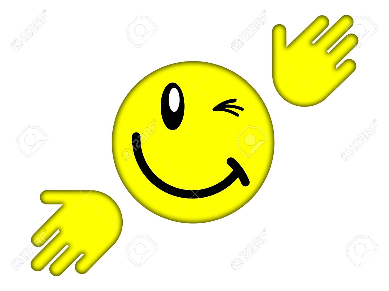 Yellow smiley face on a white background stock photo picture and stock photo yellow smiley face on a white background voltagebd Image collections