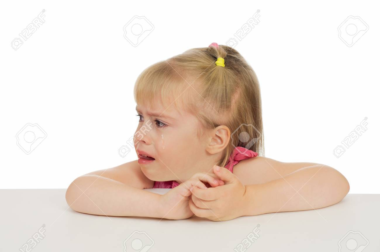 Offended by the little girl was crying and looking away Stock Photo - 10939130