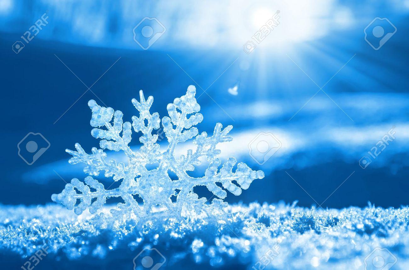 Snowflake light sunset - 16293185