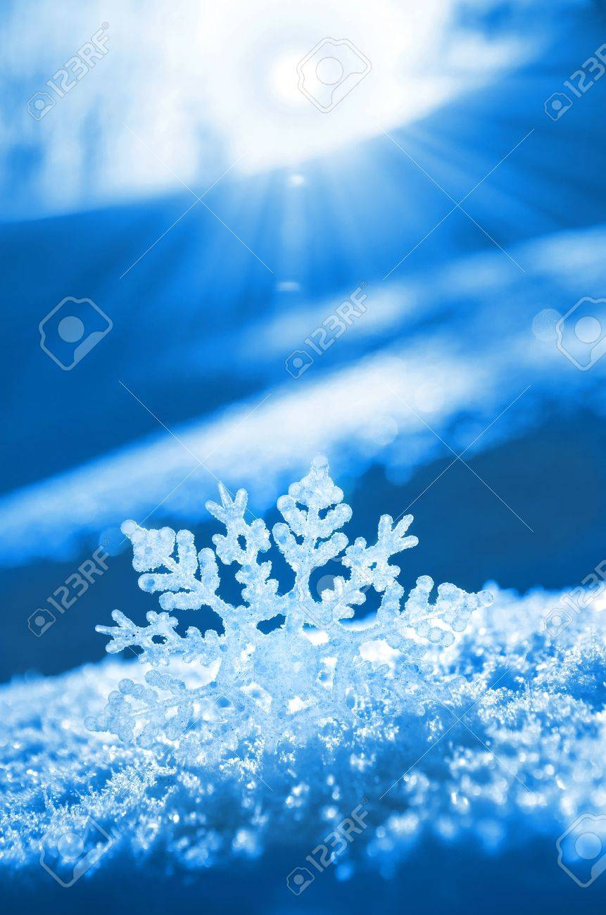 Snowflake light sunset Stock Photo - 16293188
