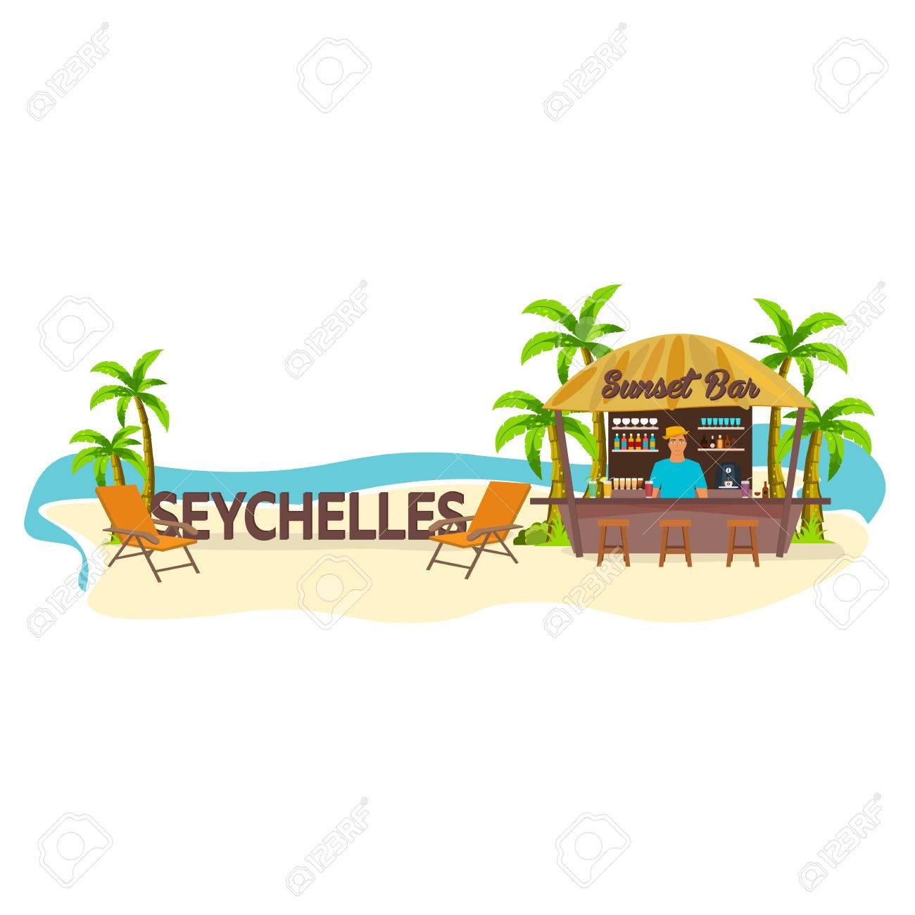LongueTropical Bar Bar De PlageLes De SeychellesVoyagerPalmBoissonÉtéChaise qSzMpUV