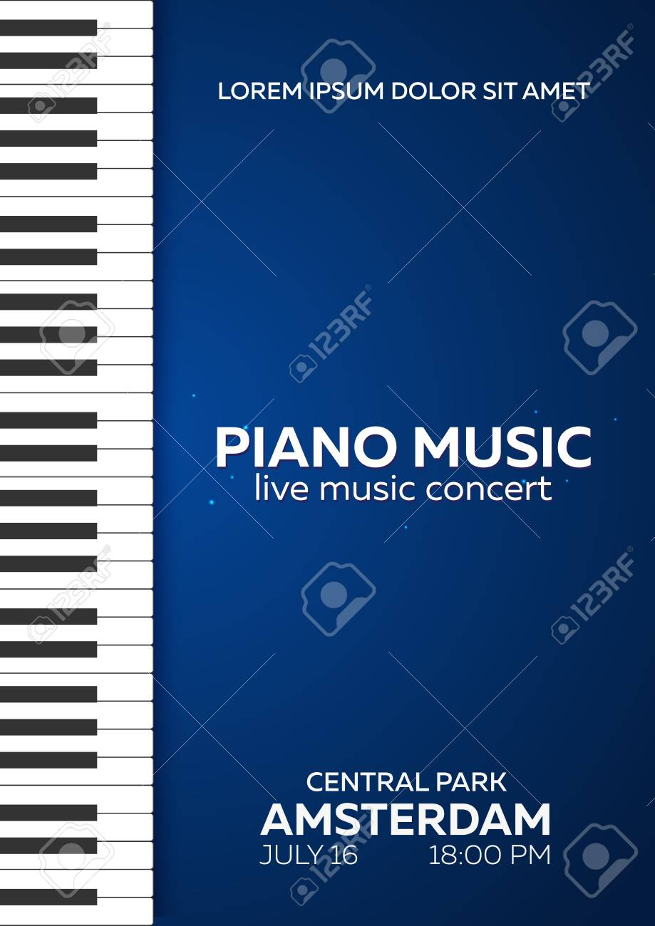 piano concert poster design live music concert piano keys