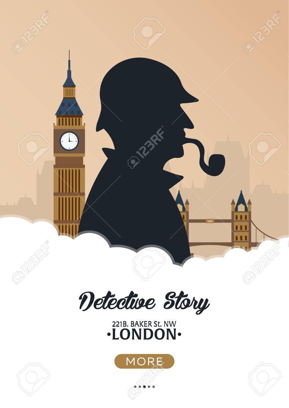 sherlock holmes poster detektivabbildung illustration mit sherlock holmes backerstrasse 221b london grosses