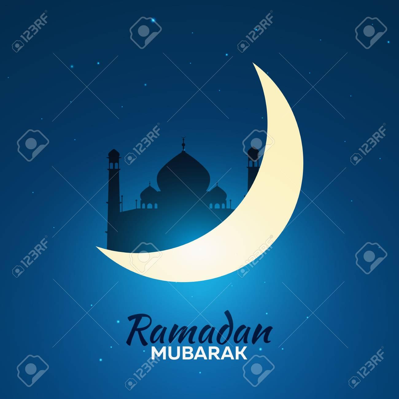 Ramadan kareem ramadan mubarak greeting card arabian night ramadan kareem ramadan mubarak greeting card arabian night with crescent moon stock vector m4hsunfo Choice Image
