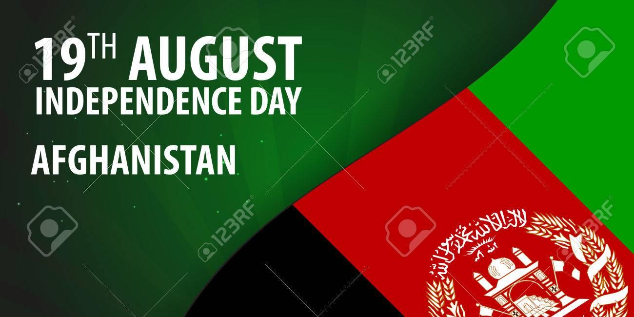 Unabhangigkeitstag Von Afghanistan Flagge Von Afghanistan