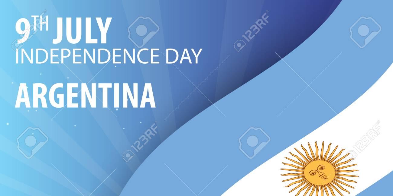 Día De La Independencia De Argentina. Bandera Y Bandera Patriótica ...