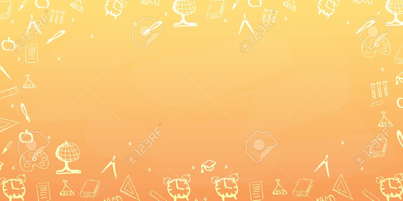 Back To School Background Education Banner Royalty Free Cliparts Vectors And Stock Illustration Image 83761291