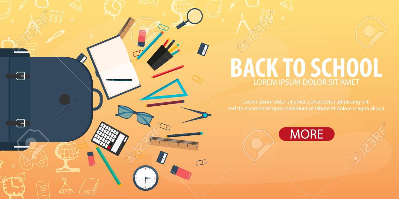 Back To School Background Education Banner Vector Illustration Royalty Free Cliparts Vectors And Stock Illustration Image 83888604