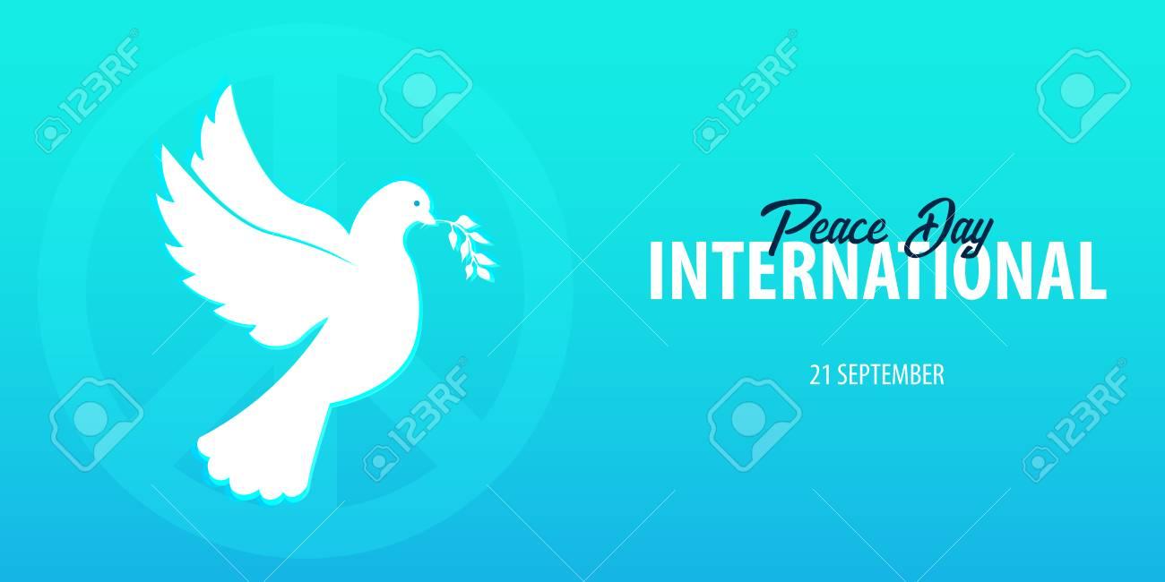 国際平和デーのバナーです。9 月...