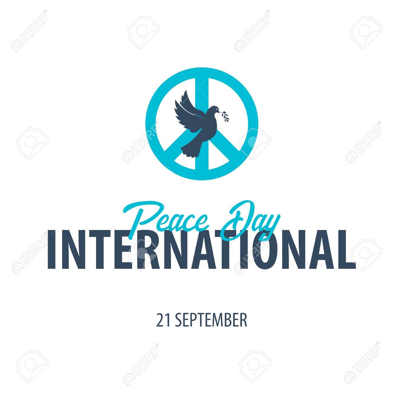 国際平和デーのエンブレム。9 月...
