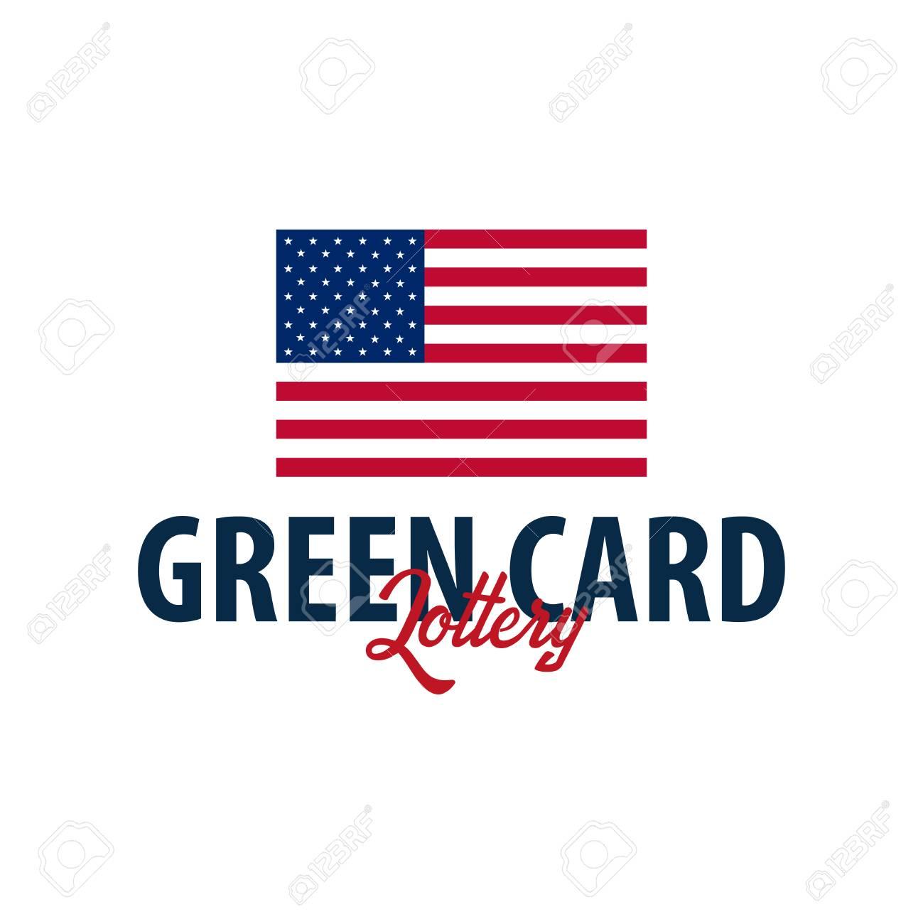 Logo Ou Emblème De La Loterie De La Carte Verte Immigration Et Visa Aux états Unis
