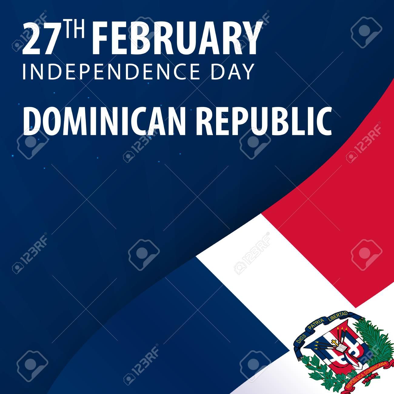 Día De La Independencia De La República Dominicana. Bandera Y ...
