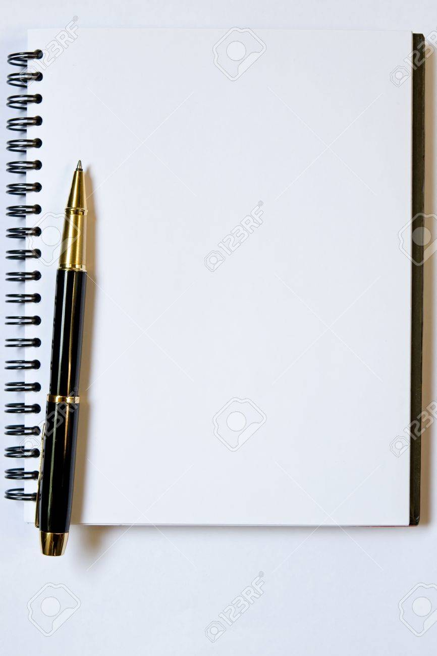 Blank Notebook And Pen, You Can Put Your Text In Here Stock Photo, Picture  And Royalty Free Image. Image 10112338.
