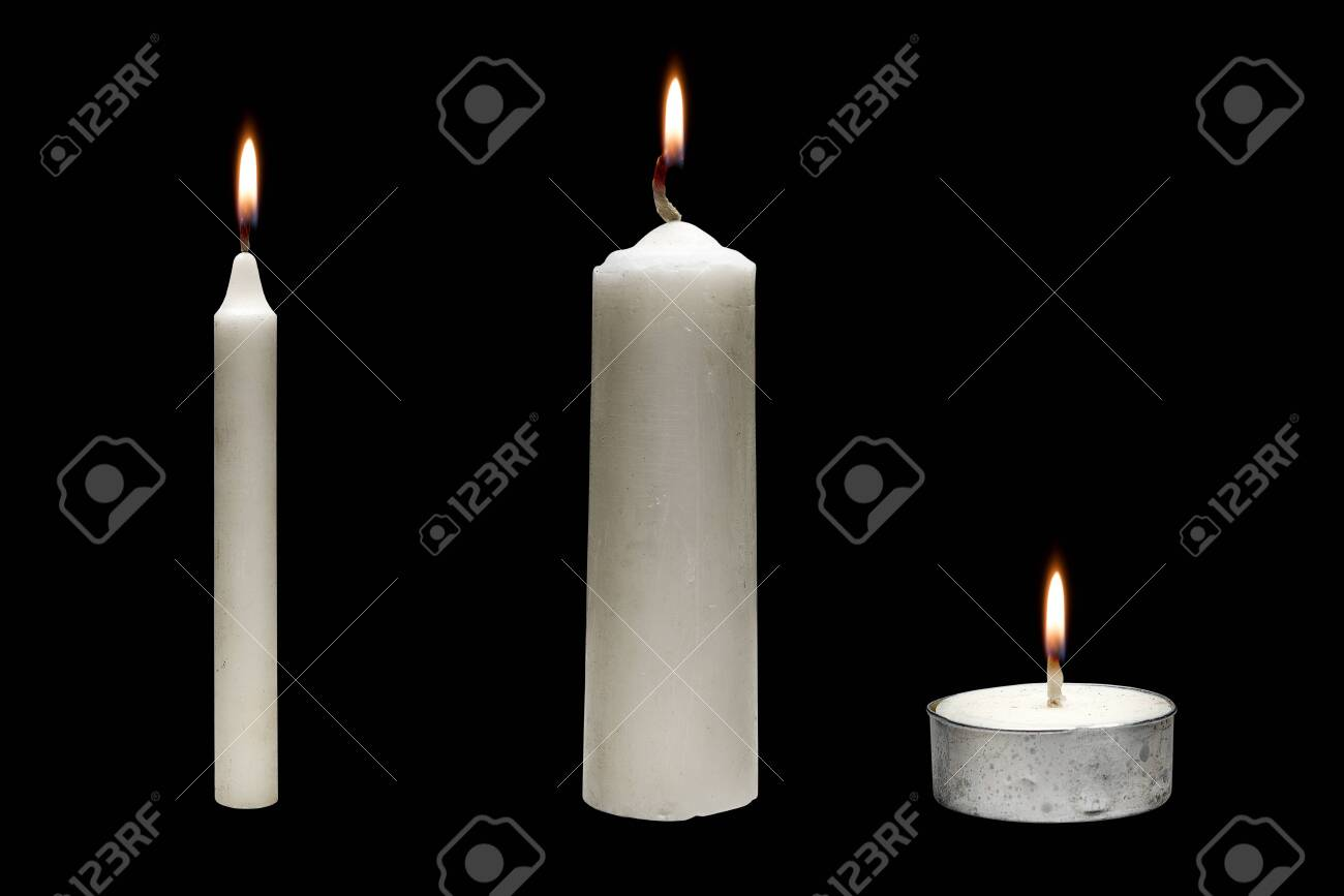 The row of candle variation for Halloween over black background - 131523094