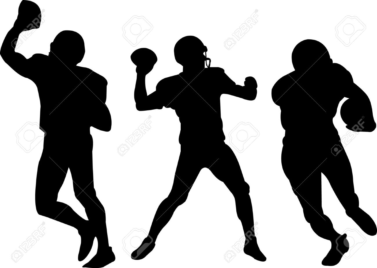 american football players silhouettes - 22815719