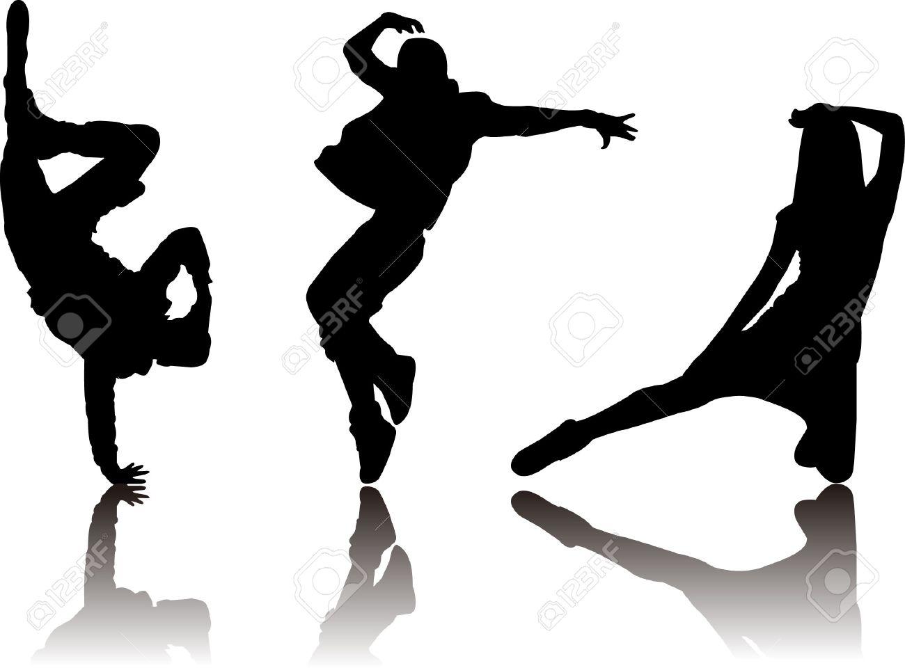 popular dancer silhouette - 22815734