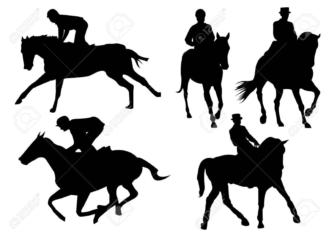 Horse Silhouette Horse Racing Game Silhouette