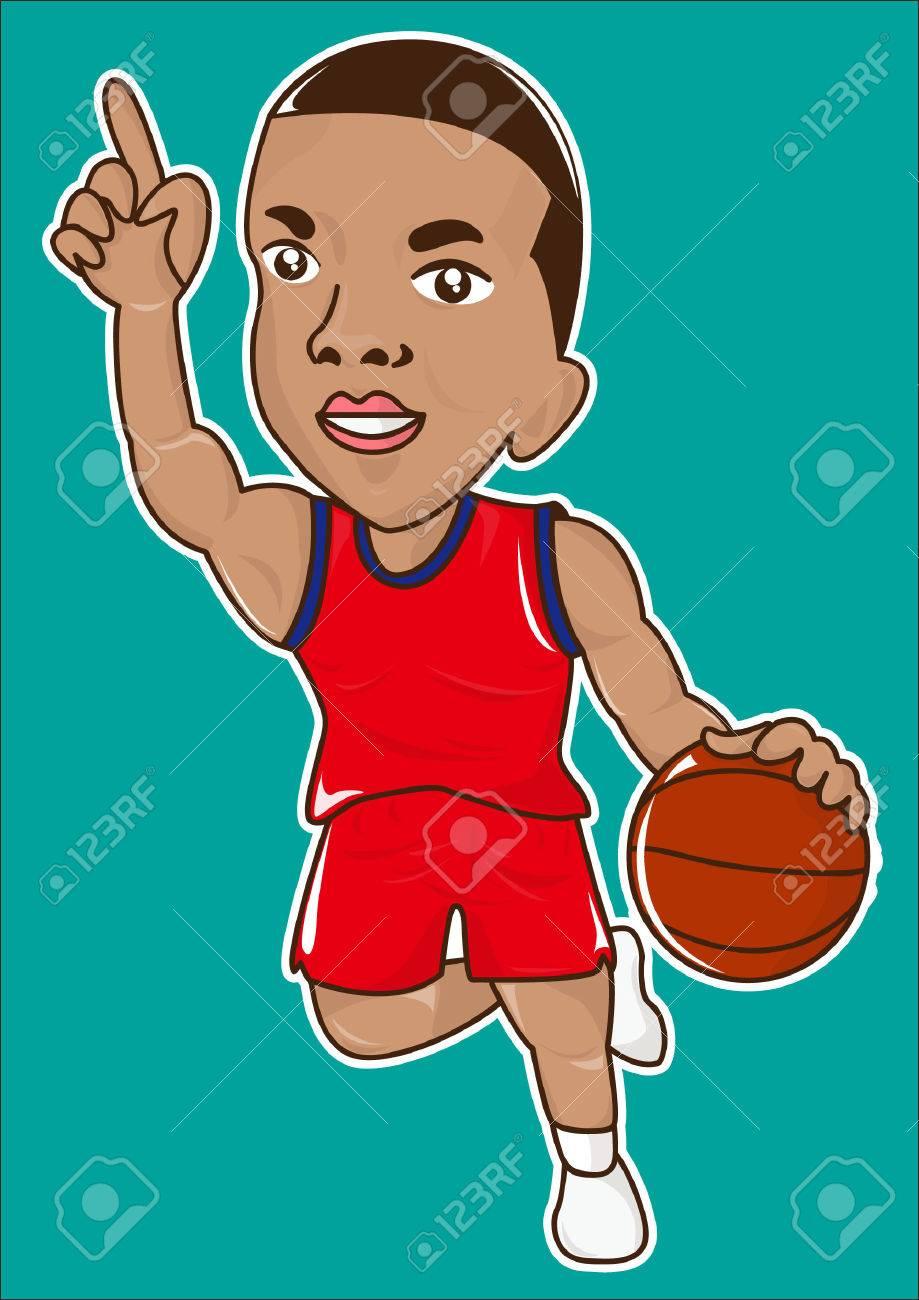 cartoon basketball player icon - 34470138