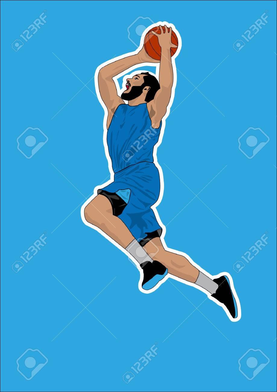 basketball player shadow Silhouette - 34529340