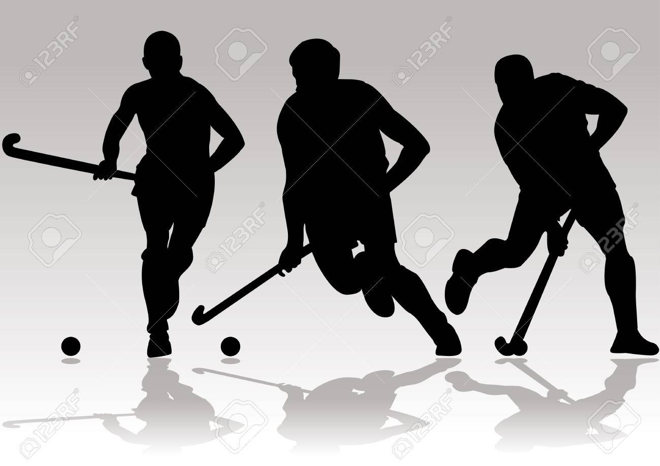 hockey player silhouettes - 40691092