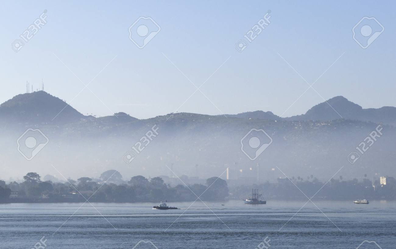 freetown the harbour of sierra leone Stock Photo - 11389205